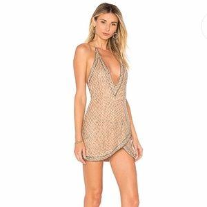 X by NBD x Revolve NWT Gorgeous Rischa Dress Candy